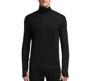 Icebreaker Langarm Shirt mit 1/2 Zip Tech Bodyfit 260 aus Merino Wolle Funktionunterwäsche im Test
